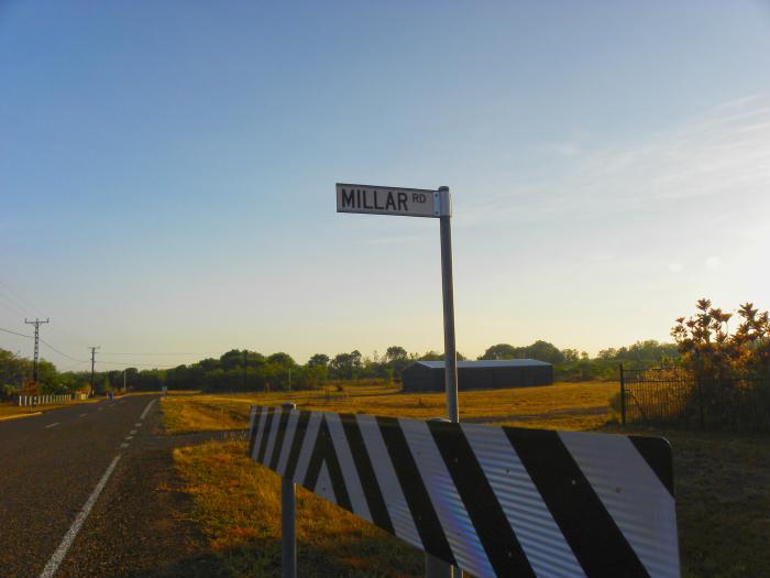 Millar Road sign