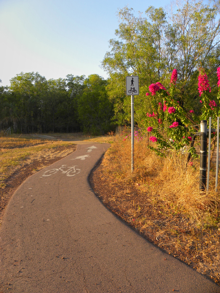 Cycle and walk path into conservation area
