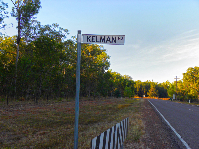 Kelman Road sign